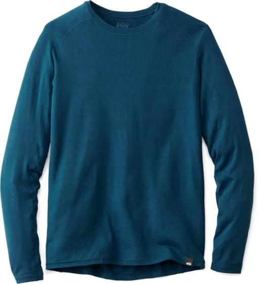 REI Co-op Merino Midweight Base Layer Top - Men's cold weather clothing